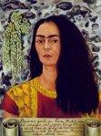 Frida Kahlo - Auto retrato com cabelo liso